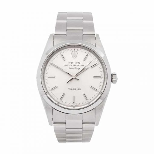 rolex stainless steel air king white dial 14000 oyster replica