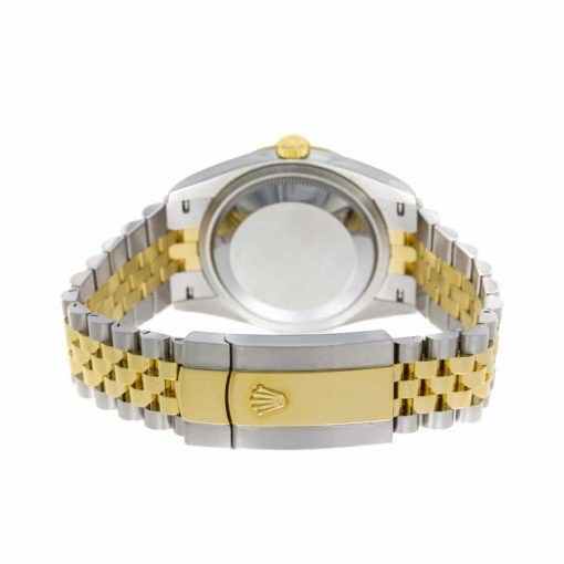 rolex datejust 126283rbr yellow gold steel green dial