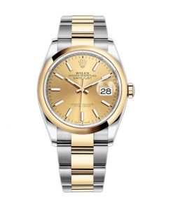 rolex datejust 126303 40mm steel gold automatic champagne dial