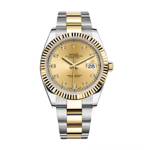 rolex datejust 126333 steel yellow gold automatic champagne dial oyster replica