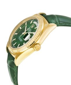 rolex day date 118138 v5 yellow gold green dial 2