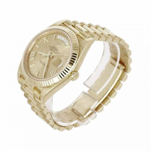 rolex day date 228238 kw yellow gold champagne dial replica 5 1