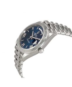 rolex day date 40 228239 2018 ew stainless steel blue dial oyster replica rear