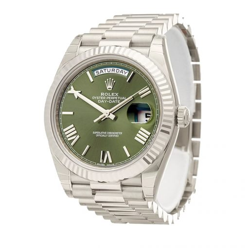 rolex day date 40 228239 stainless steel blue dial replica