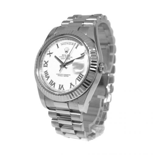 rolex day date ii 218239 v6 stainless steel sundust dial replica 33