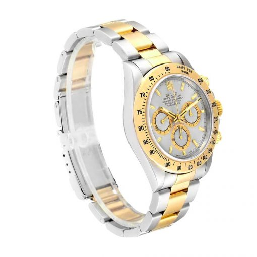 rolex daytona cosmograph 116503 jf stainless steel yellow gold white dial replica 4