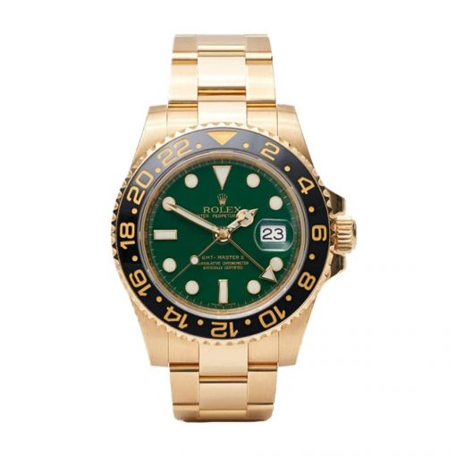 rolex gmt master 116718ln ii yellow gold automatic green dial replica 2