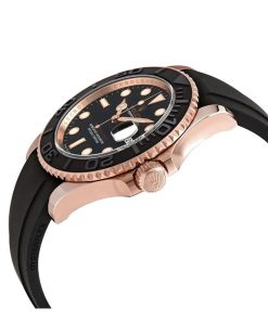 rolex yacht master 40 116655sats rose gold automatic rubber black dial oyster replica
