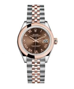 Rolex Datejust 278341RBR Everose Gold And Daimond Automatic Chocolate With Diamond Dial Jubilee Replica