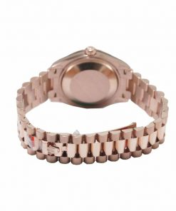 rolex datejust 278245 everose gold automatic mother pearl set with diamond dial replica12