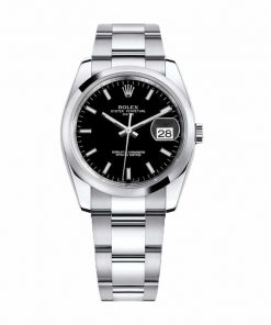 rolex datejust 34mm 115200 steel automatic silver dial
