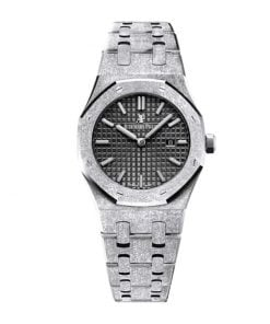 audemars piguet royal oak frosted gold dark grey dial automatic 67653bc gg 1263bc 02 replica