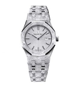 audemars piguet royal oak frosted gold grey dial automatic 67653bc gg 1263bc 01 replica