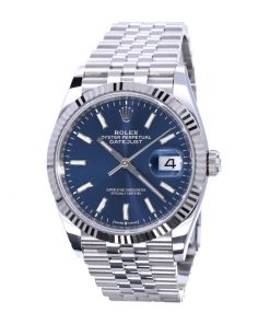 rolex datejust oyster datejust ii steel white gold 126234 blue dial
