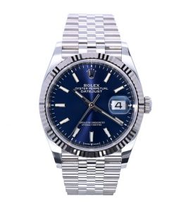 rolex datejust oyster datejust ii steel white gold 126234 blue dial replica