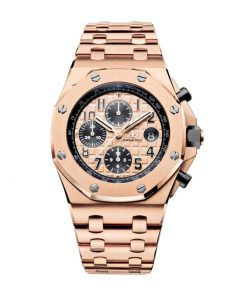 audemars piguet royal oak offshore rose gold dial chronograph 26470or oo 1000or 01 replica