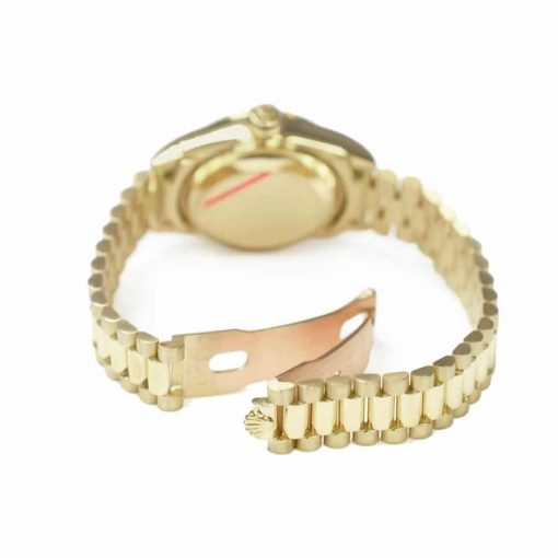 rolex datejust mother of pearl diamond dial yellow gold 178288