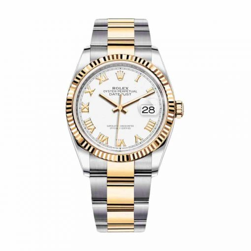 rolex datejust 126231lc steel yellow gold automatic white dial oyster replica