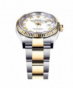 rolex datejust 126231lc steel yellow gold automatic white dial oyster replica2