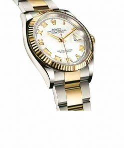 rolex datejust 126231lc steel yellow gold automatic white dial oyster replica3