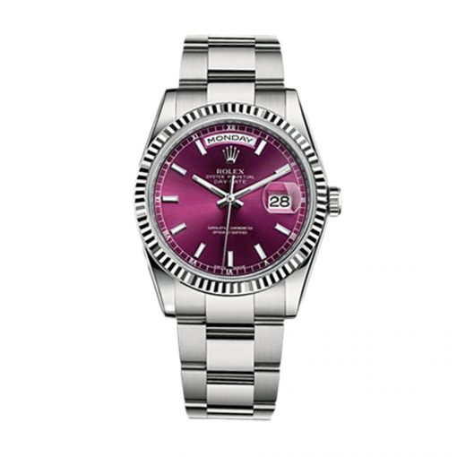 Rolex - 118239-0304 Day-Date 36 White Gold / Oyster / Cherry
